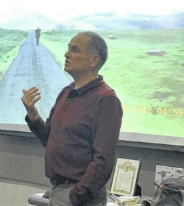 Elkin hiking enthusiast Bob Hillyer shared Camino experience at Elkin Public Library