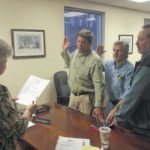 Board members sworn in