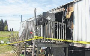 Mobile home fire on Little Elkin Church Road in Ronda claims the lives of two young children
