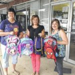 Businesses donate school supplies
